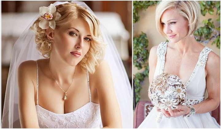 Cabelos curtos para noivas