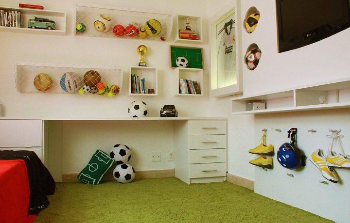 decoração-do-quarto-masculino-de-futebol