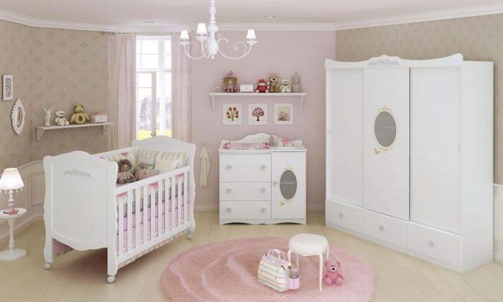Decoração de quarto infantil feminino ~ Quarto Pequeno Infantil Feminino