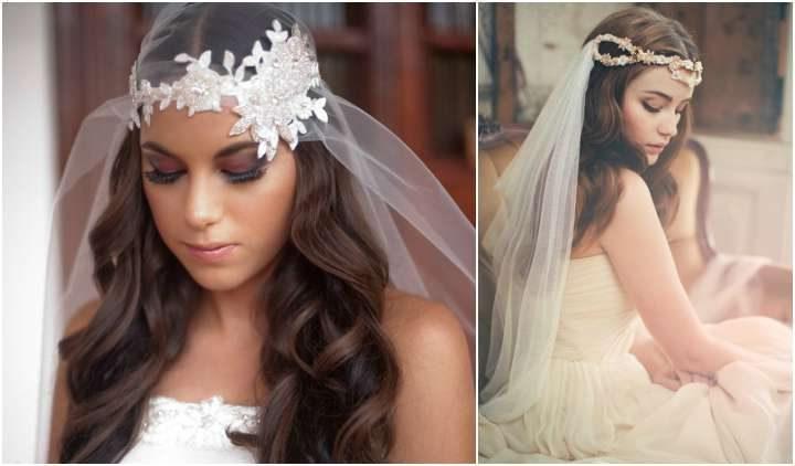 Penteado noiva com véu