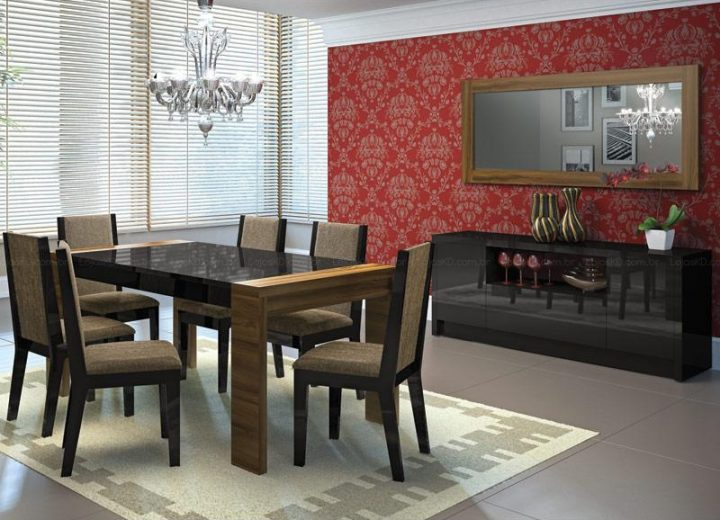 sala-de-jantar-com-tecido-na-parede