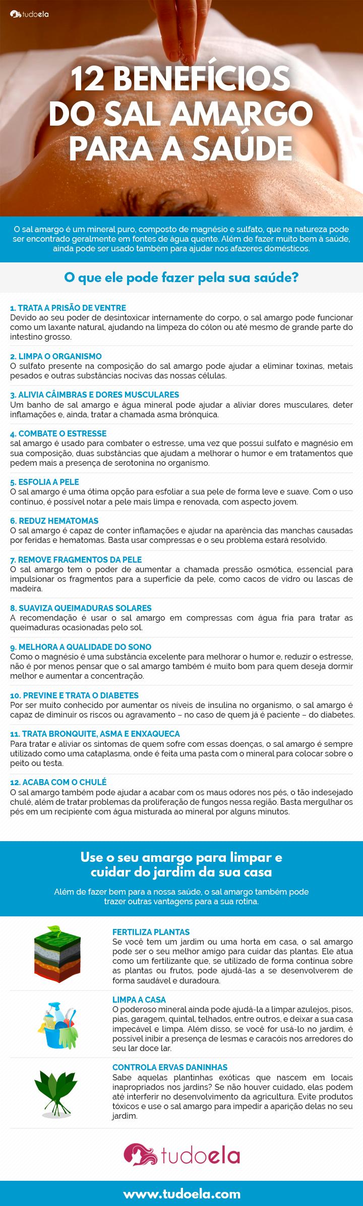 Sal amargo benefícios - infográfico