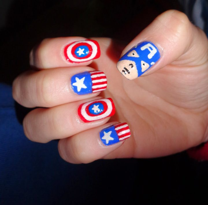 unhas-decoradas-capitao-america