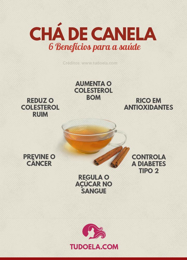 Chá de canela: benefícios para a saúde