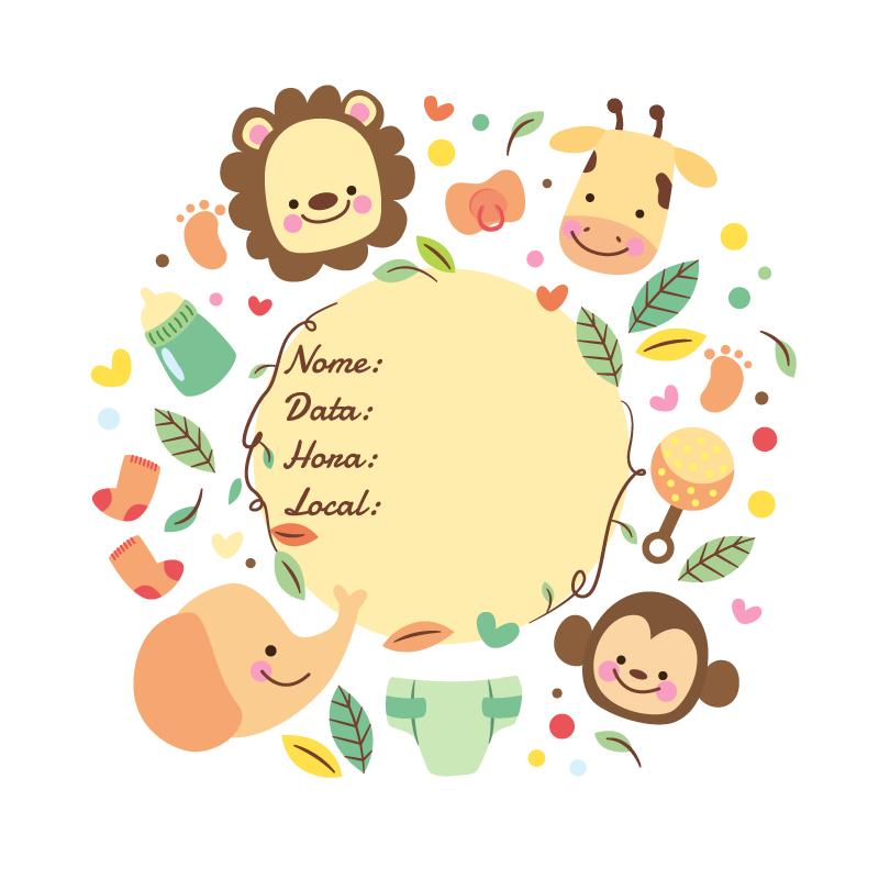 Convite de festa infantil