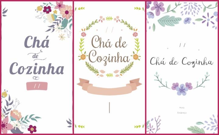 Convites Chá de Cozinha