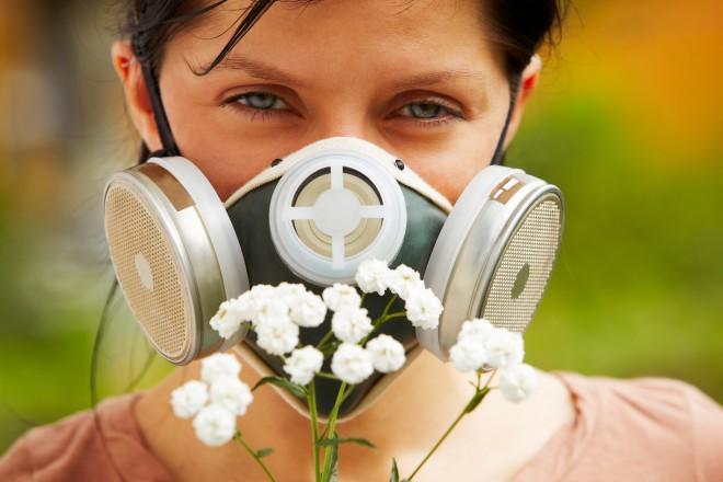 Alergia ao polen das flores