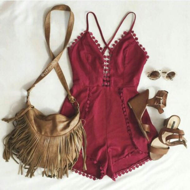 m3a9lv-l-610x610-romper-maroon-burgundy-tumblr+girl-weheartit-tumblr-tumblr+outfit-boho-boho+chic-indie-bohemian-bag-red+dress-hippie-hippie+chic