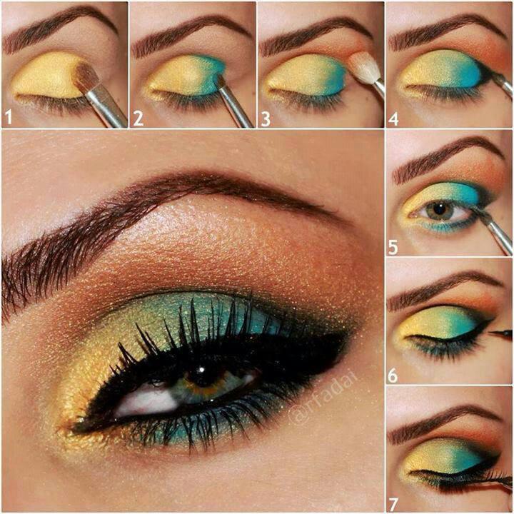 maquiagem-verde-e-amarelo-para-olimpiadas