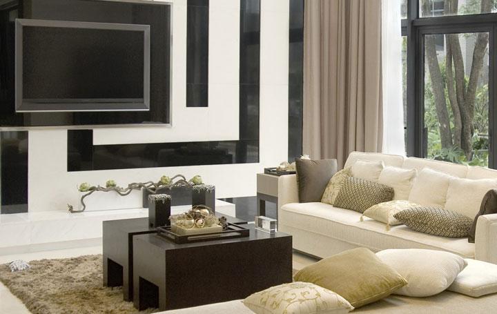 Decoração sofá moderno