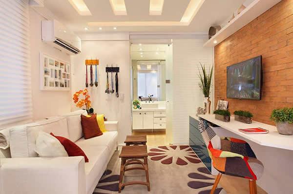 Decora o para sala de tv sugest es para voc caprichar for Salas pequenas economicas