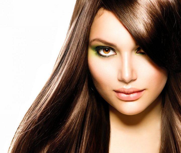Beautiful Brunette Girl. Healthy Long Brown Hair