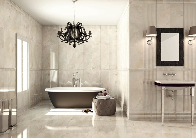 Cer mica para banheiro hist ria e dicas de decora o - Lampadari da bagno moderni ...