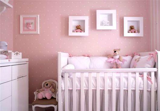 decoração de quarto de bebe rosinha