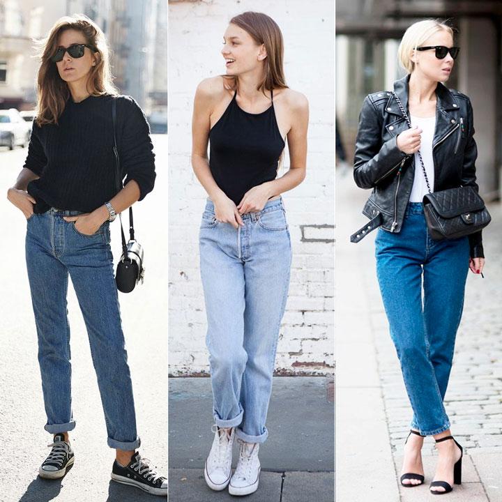 Looks mom jeans
