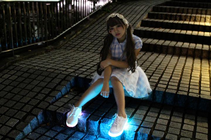 Tênis com LED e vestido