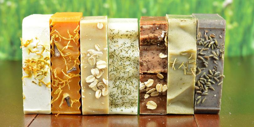 Sabonetes artesanais perfumados