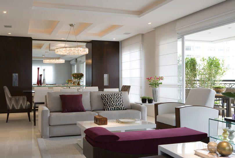 Decora o de sala de estar grande criando um ambiente for Sala de estar y comedor