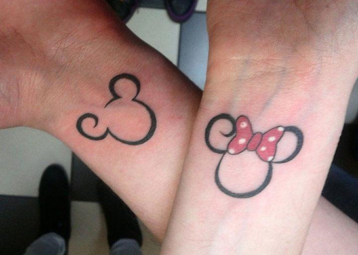 Tatuagens para casal Mickey e Minnie