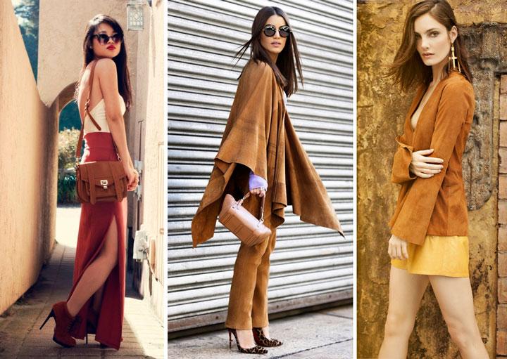 Tons terrosos moda feminina