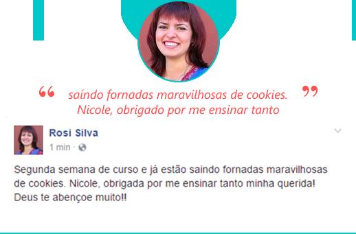 Depoimento Rosi Cookies Lucrativos