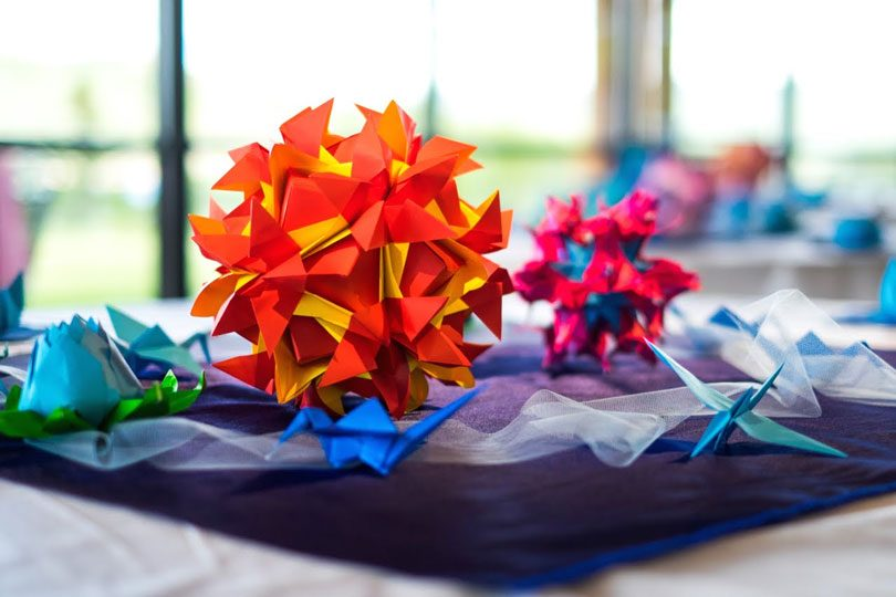 Decoração origami casamento