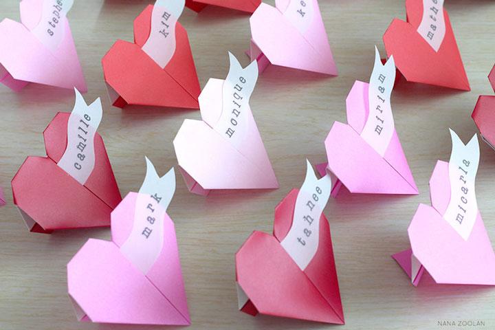 Decoração origami lembranças
