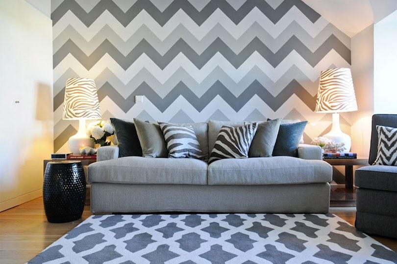 Papel de parede chevron decoração