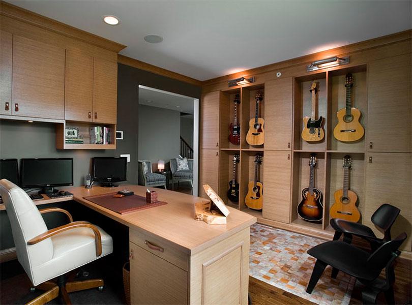 Decoração com instrumentos escritório