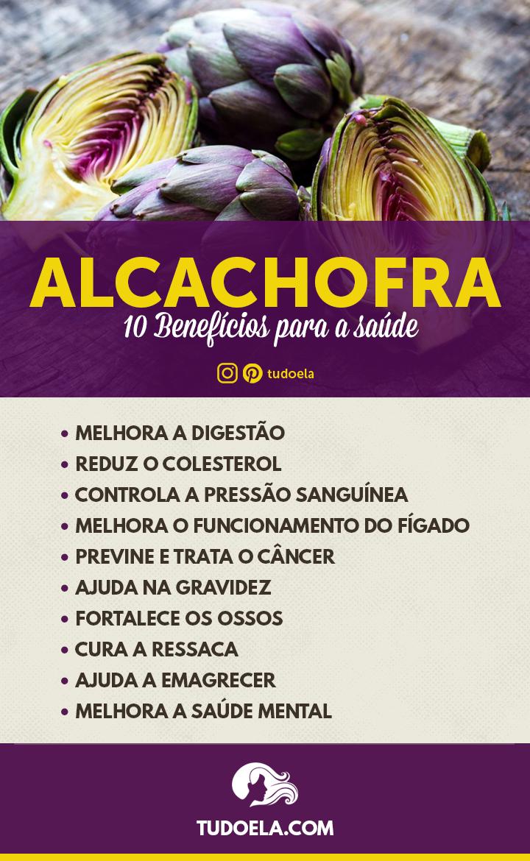 10 Benefícios da alcachofra para a saúde  [Infográfico]