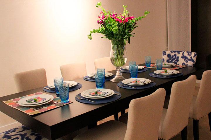 Como montar mesa de jantar