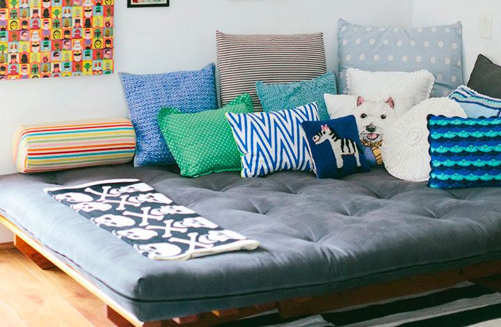 Decoração com futons cama