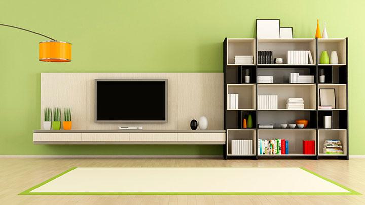 Decoração com painel para TV sala