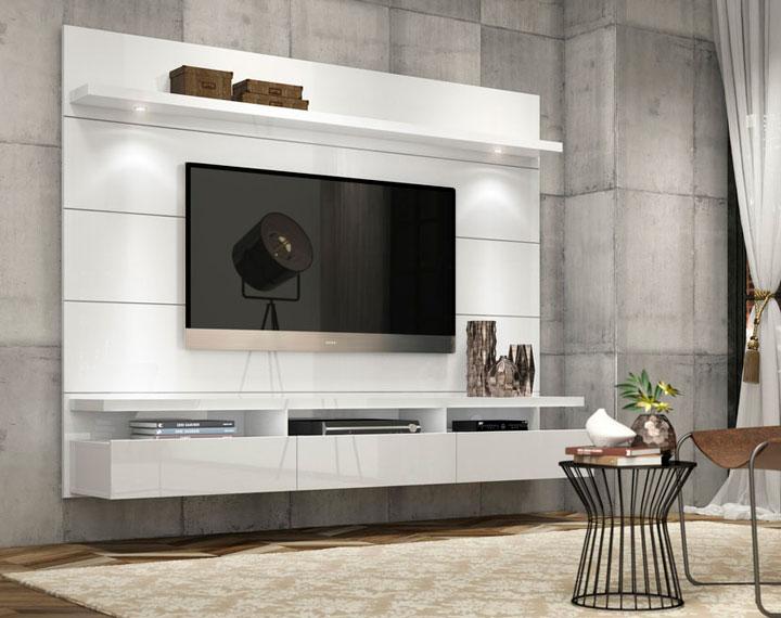 Decoração com painel para TV