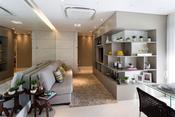 Decoração com vasos apartamento