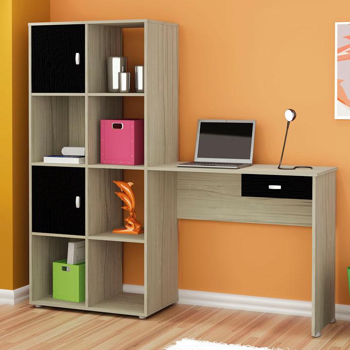 Escolher escrivaninha com estante