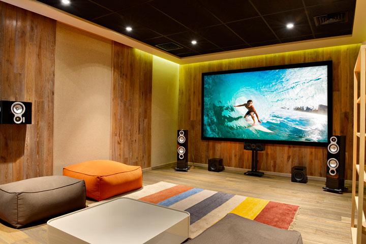 Home theater decoração