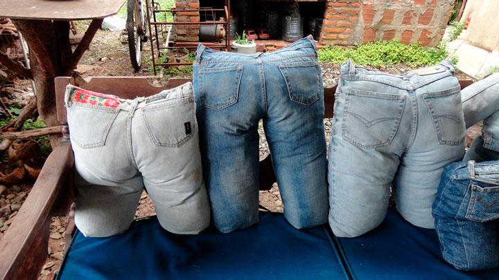 Jeans almofadas