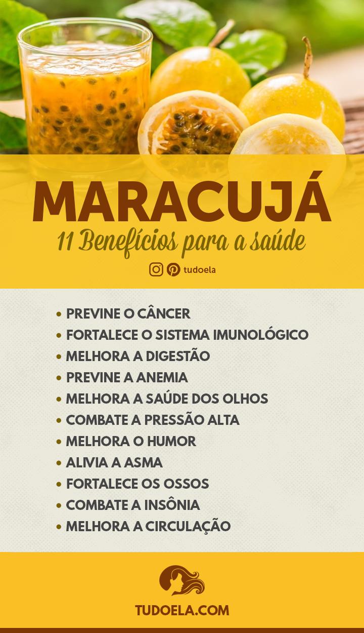 Maracujá: 11 benefícios para a saúde [Infográfico]