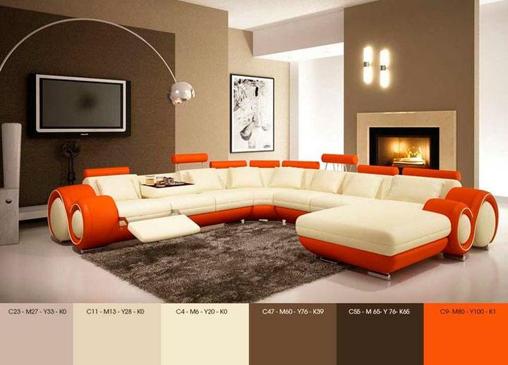Paleta de cores decoração da sala