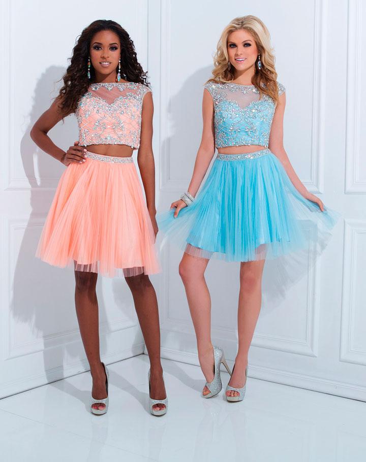 Vestidos de debutantes curtos com brilhantes