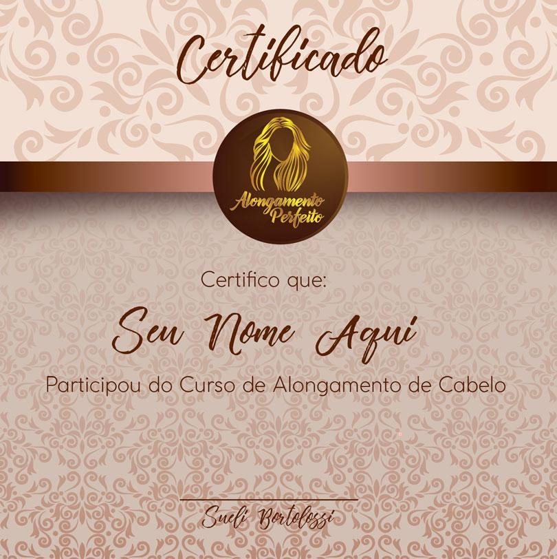 Alongamento Perfeito certificado