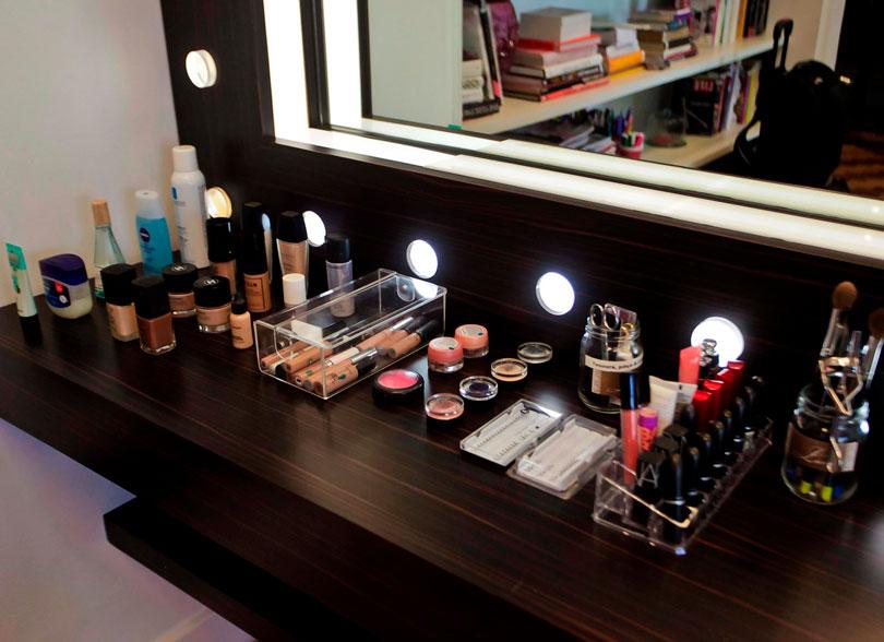Cantinho de maquiagem