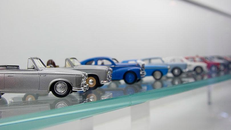 Decoração com miniaturas de carros