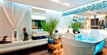 Decoração de sala de banho