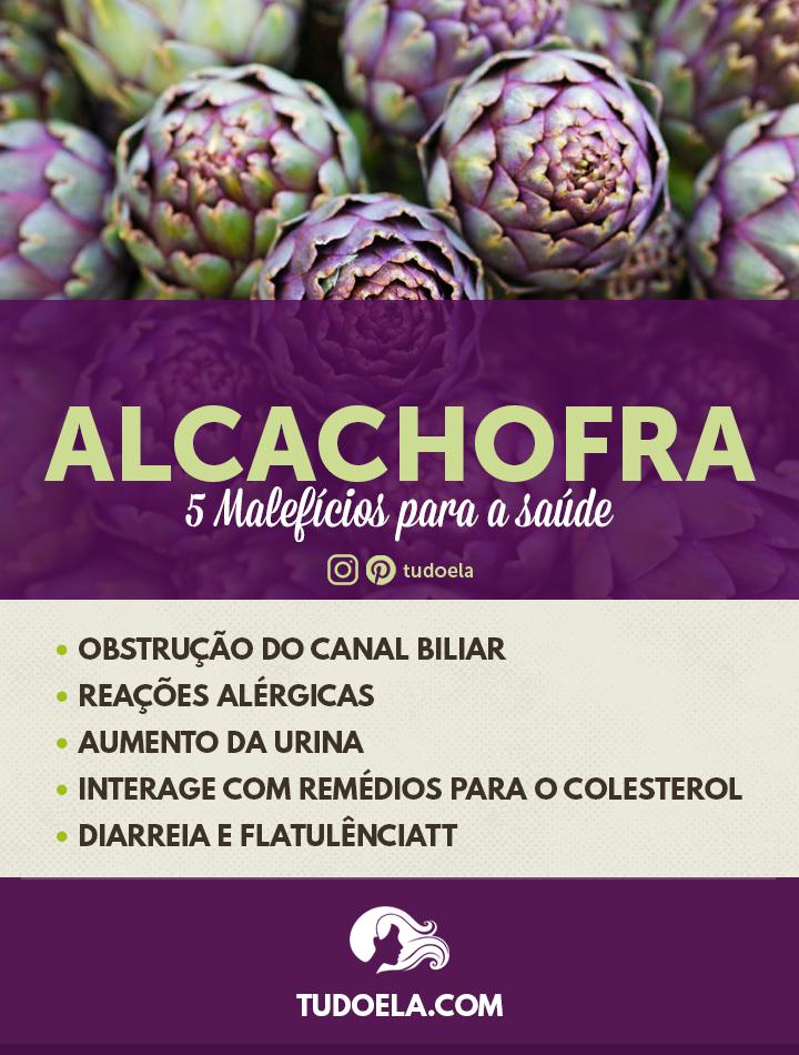 Malefícios da alcachofra para a saúde [Infográfico]
