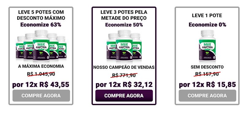 Max Amora preço