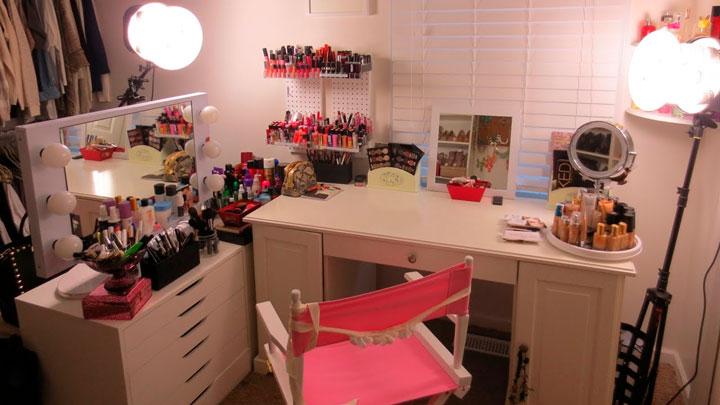 Sala de maquiagem