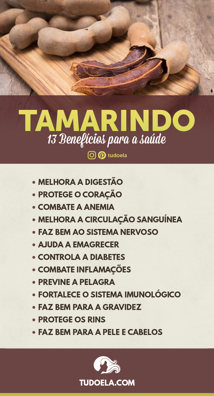 Tamarindo: 13 benefícios para a saúde [Infográfico]