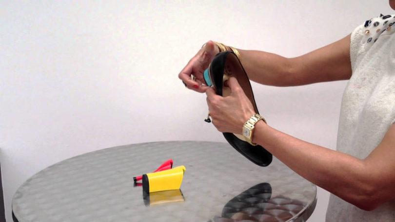 Sapato com salto removível